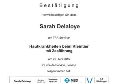 Certificat Séminaire ZOO Servion
